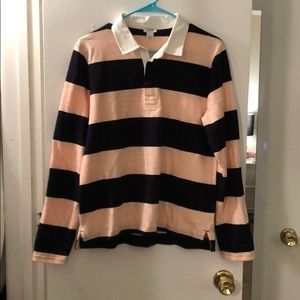 J Crew Striped Rugby Top Large